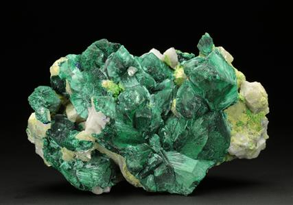 Malachite Pseudomorph Azurite on Quartz