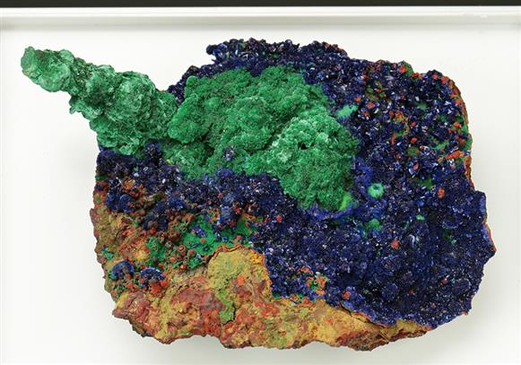 Malachite with Azurite