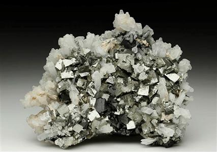 Arsenopyrite with Sphalerite, Quartz and Calcite