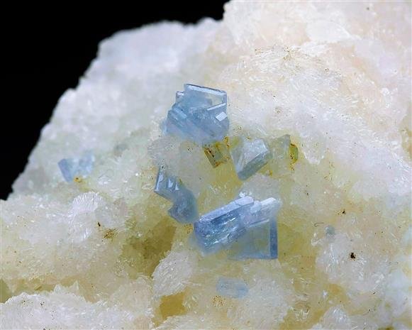 Celestite on Calcite