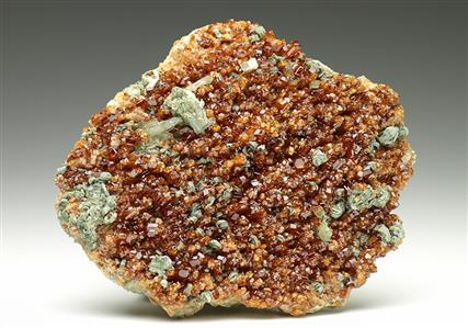 Grossular Garnet with Clinochlore and Diopside