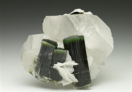 Tourmaline with Quartz and Albite