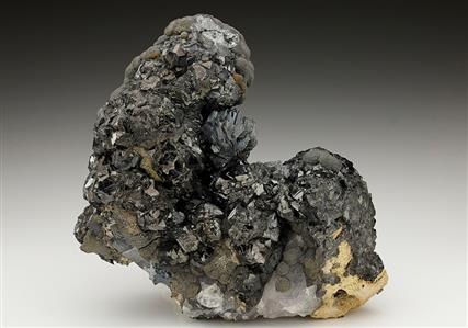Semseyite with Sphalerite and Siderite