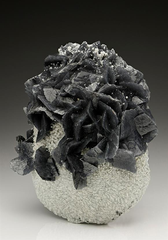Calcite included by Boulangerite
