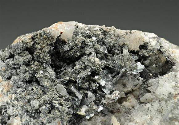 Nagyagite on Quartz