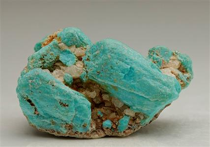 Turquoise Pseudomorph after Apatite