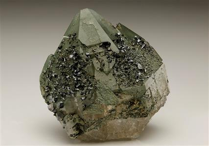 Anatase on Quartz with Chlorite