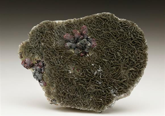 Proustite on Calcite