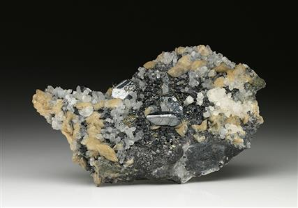 Bournonite with Sphalerite Siderite and Quartz