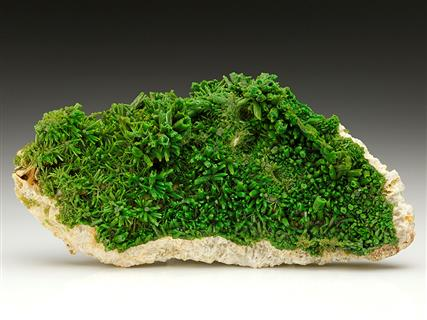 Pyromorphite on Baryte