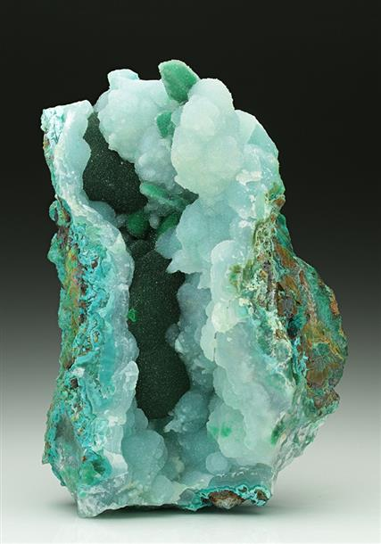 Malachite with Chrysocolla and Chalcedony-Quartz
