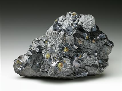 Galena and Chalcopyrite on Sphalerite