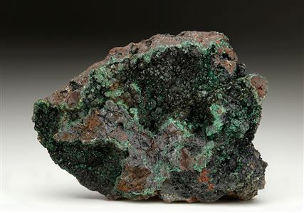 Chalcosiderite on Goethite