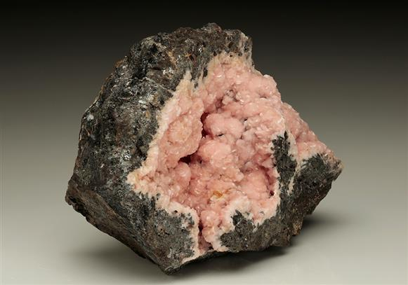 Rhodochrosite on Sphalerite