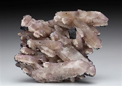 Fluorite with Bertrandite on Quartz
