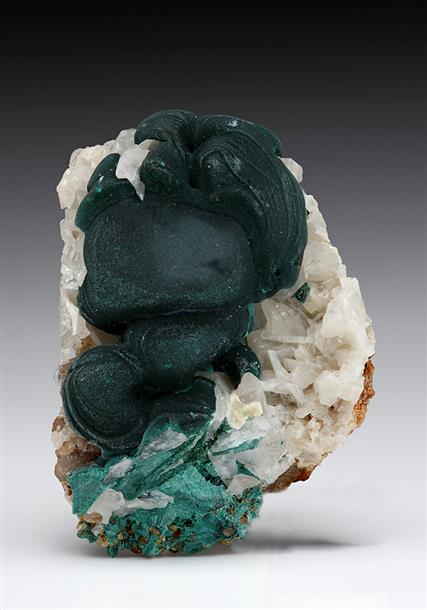 Malachite on Cerussite