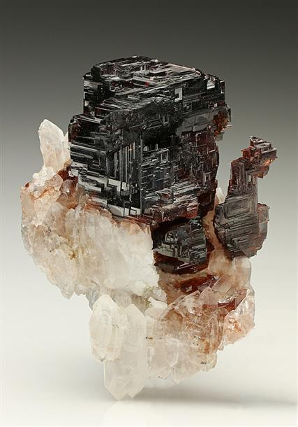 Spessartine Garnet with Quartz