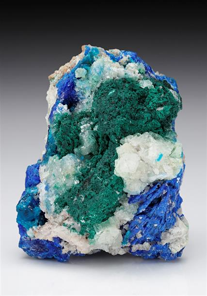 Diaboleite with Leadhillite Caledonite Brochantite