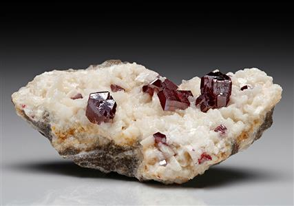 Cinnabar with Dolomite
