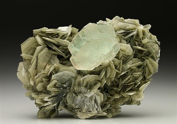Fluorite with Muscovite