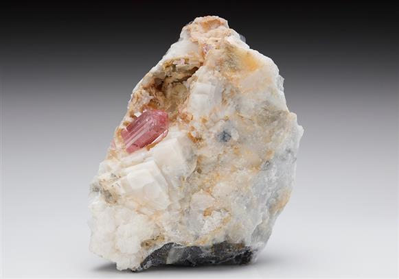 Topaz with Calcite