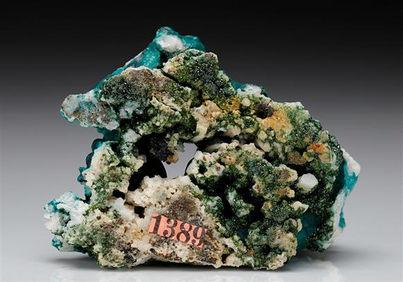 Pseudomalachite with Libethenite