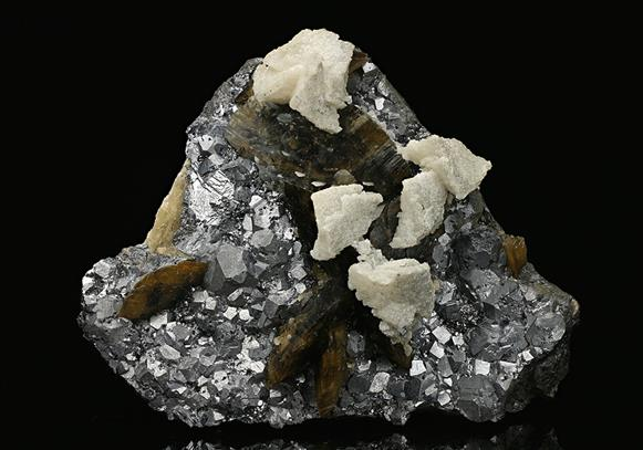 Siderite with Dolomite on Galena