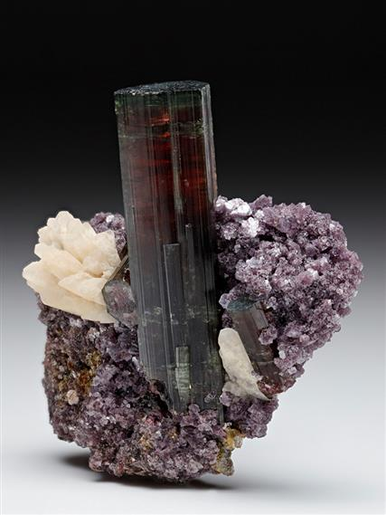 Tourmaline with Lepidolite and Albite