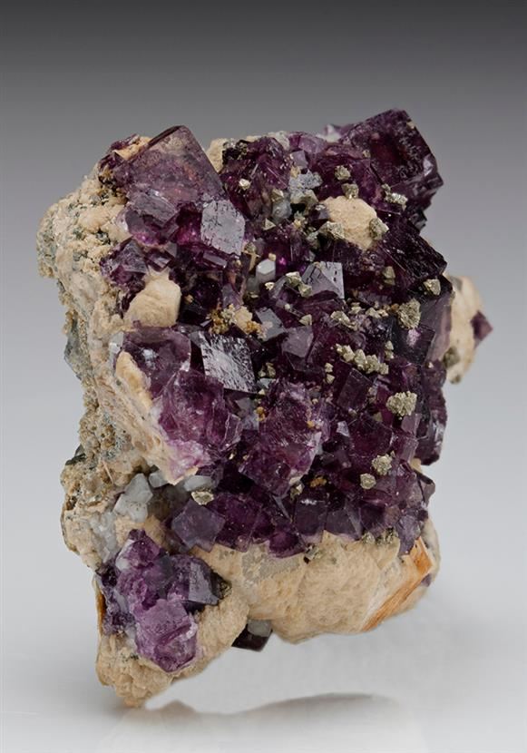 Fluorite with Apatite and Calcite
