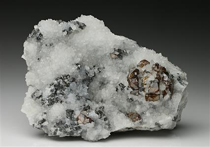 Bournonite with Sphalerite and Quartz
