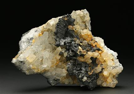 Hessite with Native Gold