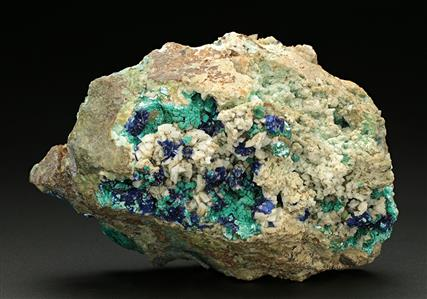 Tyrolite with Azurite and Malachite