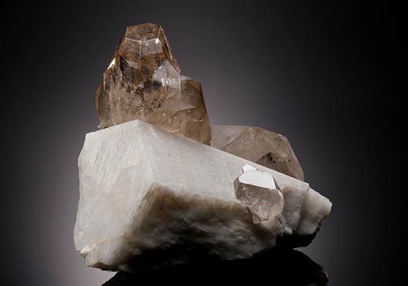 Topaz with Quartz and Microcline
