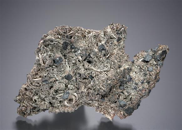 Native Silver with Acanthite and Sphalerite