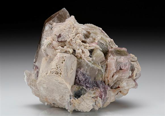 Tourmaline with Quartz and Lepidolite