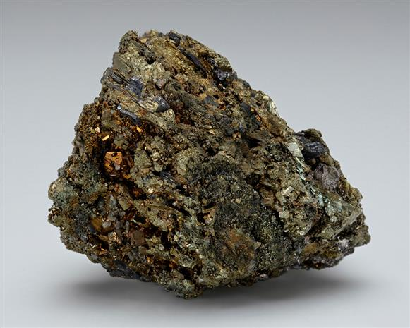 Millerite with Chalcopyrite and Galena.