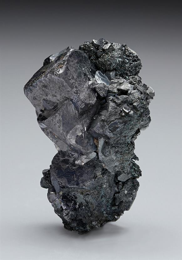 Galena with Pyrargyrite and Argentopyrite on Acanthite