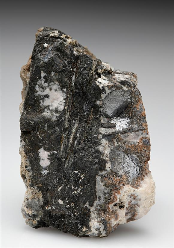 Native Tellurium with Nagyagite and Alabandite