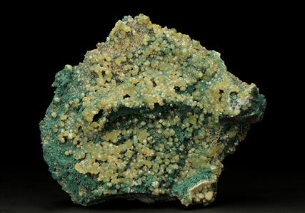 Cuprian Smithsonite with Malachite and Cerussite
