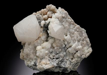 Witherite with Baryte and Alstonite