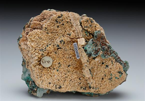 Calcite with Malachite and Dolomite