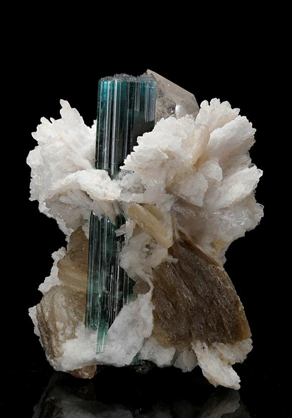 "TOURMALINE WITH ALBITE VAR. ""CLEAVELANDITE"""