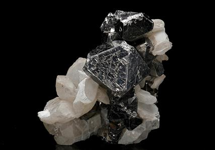 Carrollite with Calcite