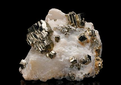 Pyrite with Talc