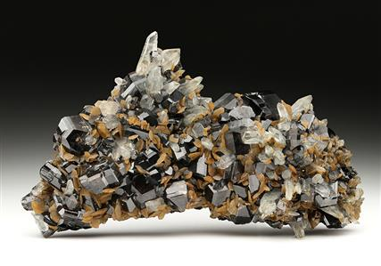 Cassiterite with Siderite and Quartz