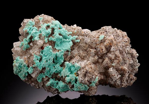AURICHALCITE with FLUORITE and BARYTE
