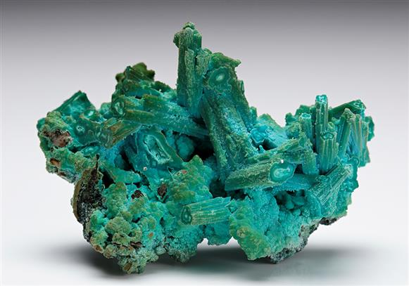 Chrysocolla after Azurite