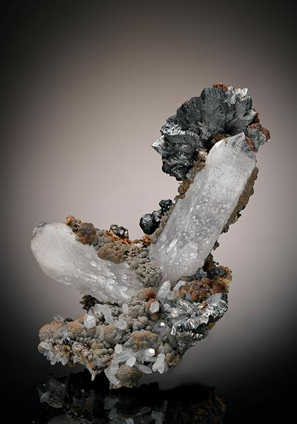 Semseyite with Quartz