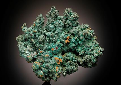 Malachite with Native Copper