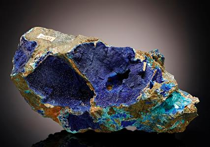 Tyrolite with Azurite